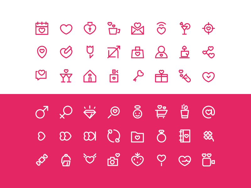 Free Valentine's Day icon set by Arthur Avakyan in 2015年1月的23个免费的扁平化图标合集下载