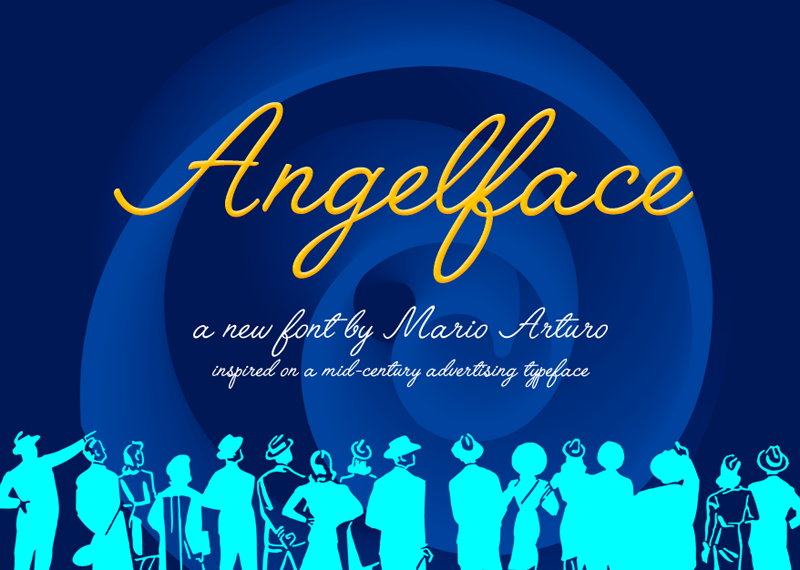 Angelface by Mario Arturo in 2015年1月整理的最新时尚设计字体下载