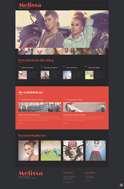 30个惊人的网页设计模版下载Free WordPress Photographer Portfolio Template