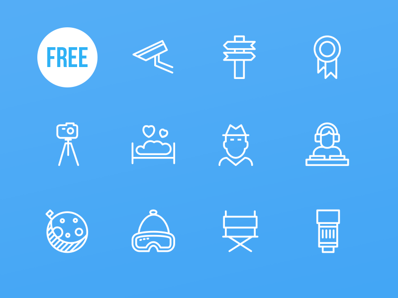 100 Free Awesome Icons by Creative Tail in 2015年2月的扁平化图标合集下载 yunrui