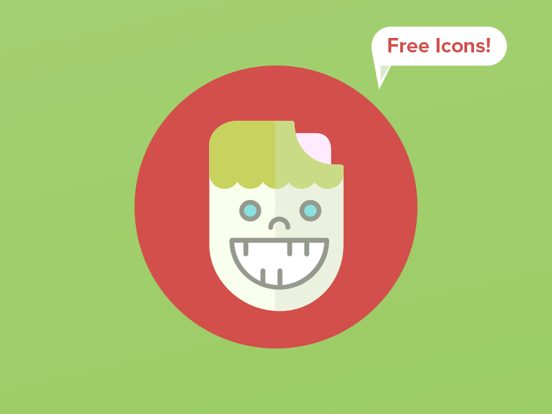 35 Free Scary Icons by Creative Tail in 2015年2月的扁平化图标合集下载 yunrui