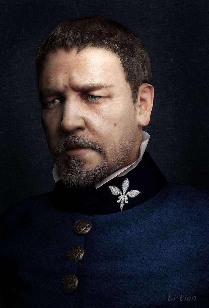 Russell Crowe by liangliang in 2015年2月最新最炫的3D角色设定设计效果欣赏