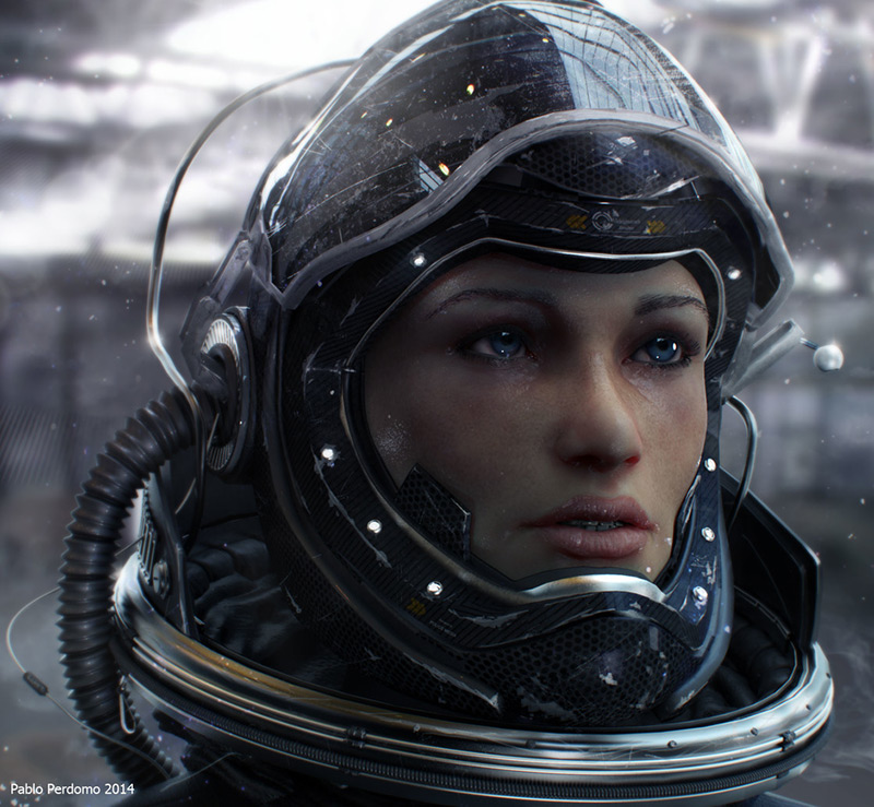 Astronaut Girl by Pablo Perdomo in 2015年2月最新最炫的3D角色设定设计效果欣赏