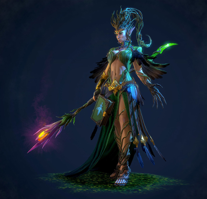 Druid by Sergey Romanenko in 2015年2月最新最炫的3D角色设定设计效果欣赏