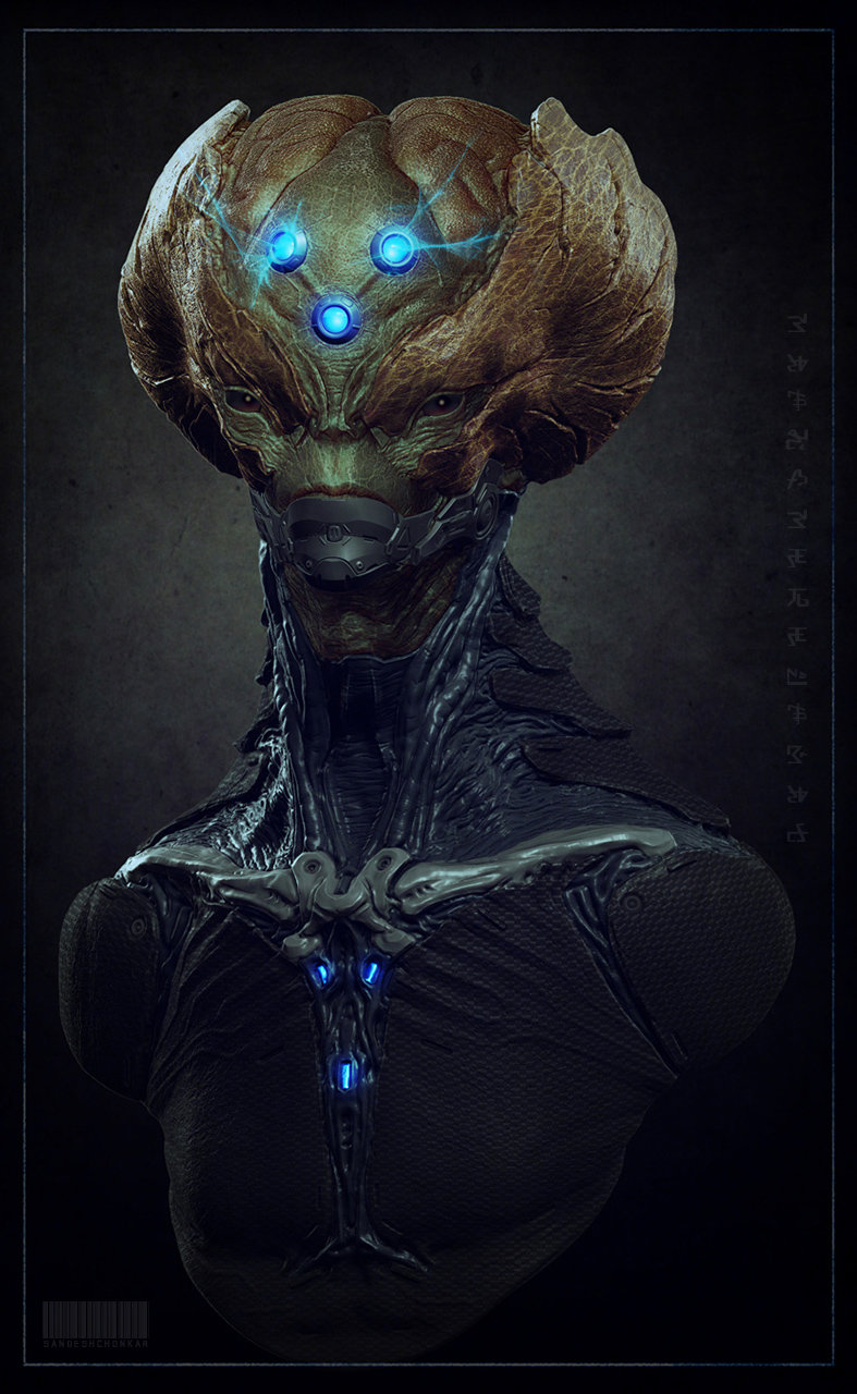 Brainiac Concept by Sandesh Chonkar in 2015年2月最新最炫的3D角色设定设计效果欣赏