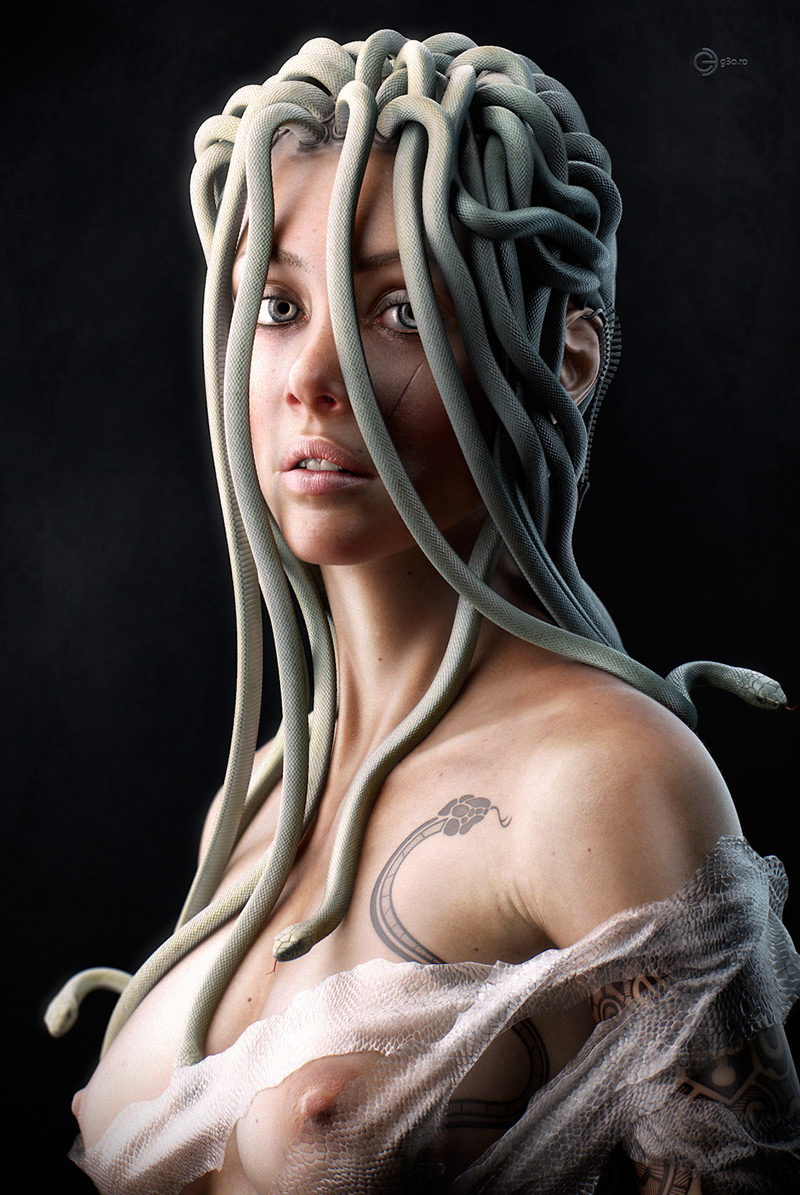 Young Medusa by George Manolache in 2015年2月最新最炫的3D角色设定设计效果欣赏