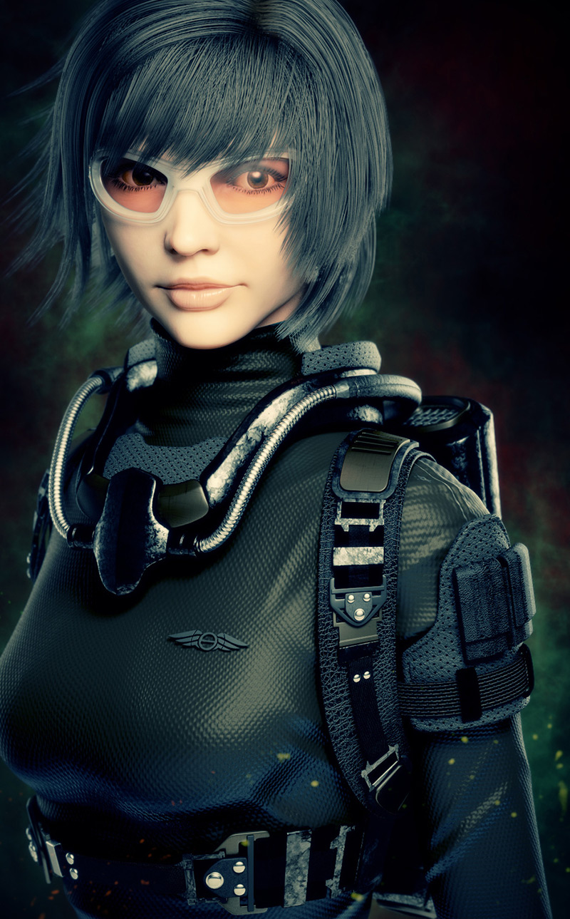 Sci-fi girl by TaeKyunKim in 2015年2月最新最炫的3D角色设定设计效果欣赏