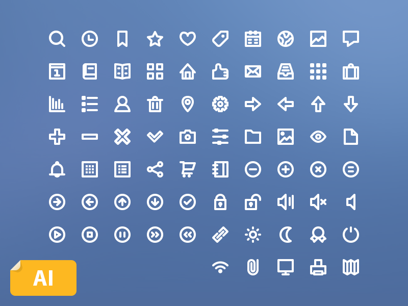75 Free Line Icons by Jakob Treml in 2015年2月的扁平化图标合集下载 yunrui