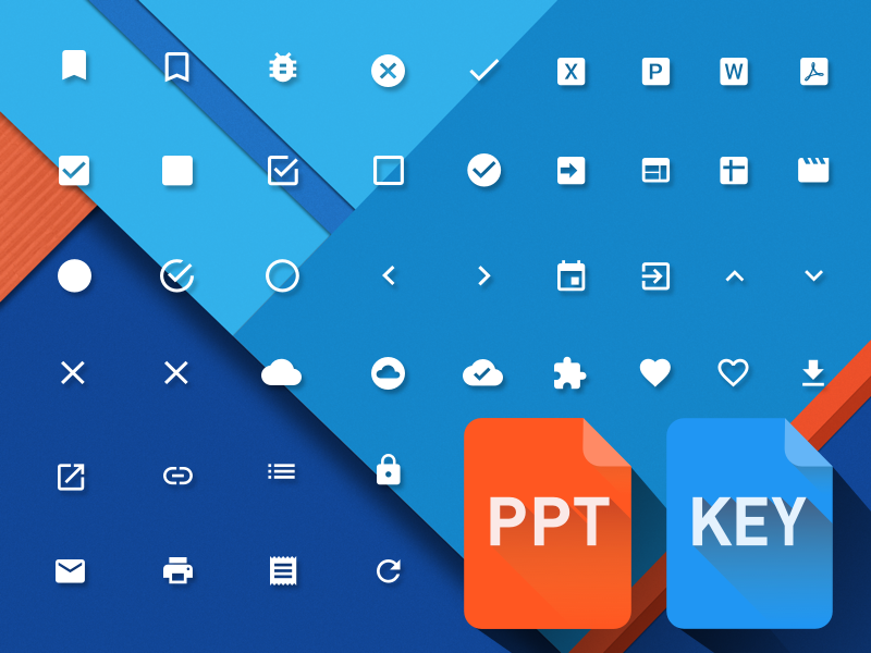 Material Design Powerpoint & Keynote icons by Kyle Ledbetter in 2015年2月的扁平化图标合集下载 yunrui
