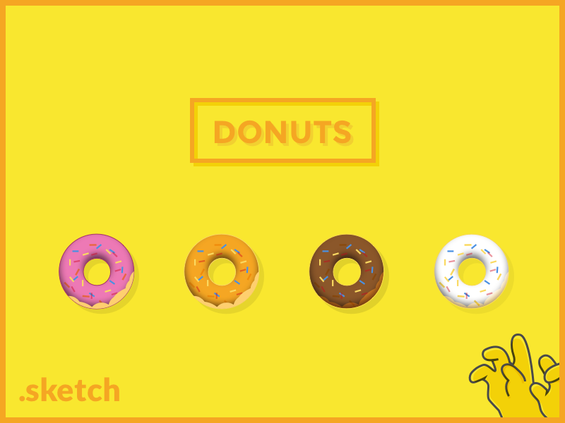 Donuts icons by Stefano Fois in 2015年3月的42套扁平化图标合集下载