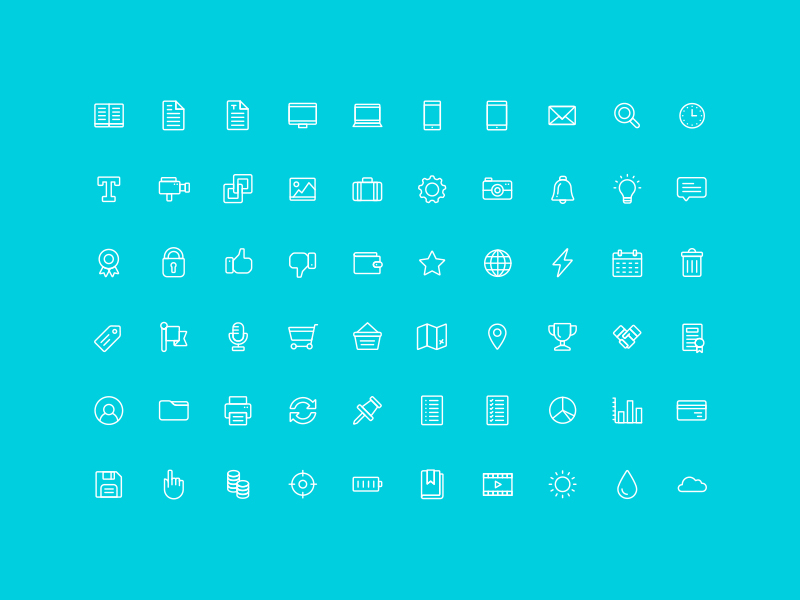 The Nice and Serious UI Icon Set by Nice and Serious in 2015年3月的42套扁平化图标合集下载