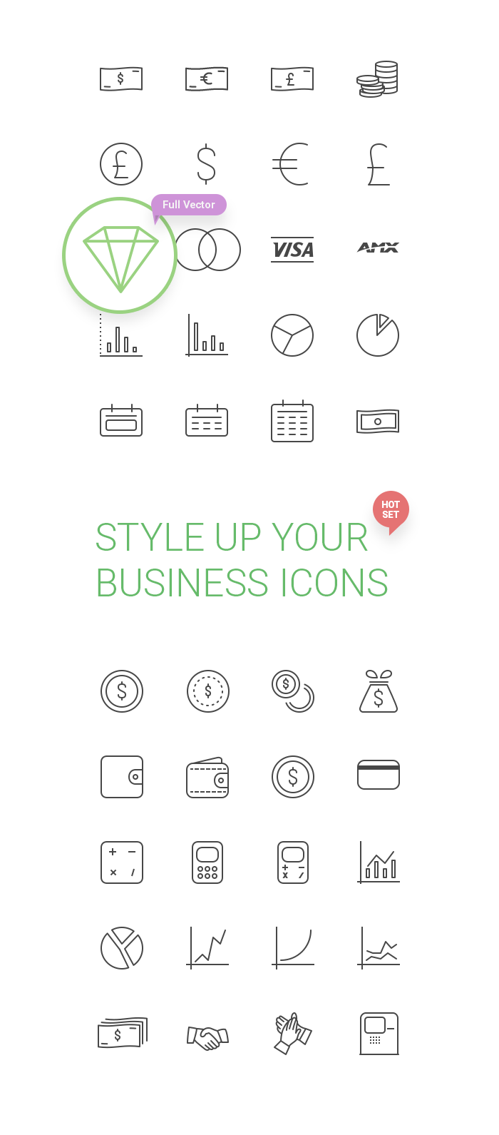 50 Free Business Icons by Creative Tail in 2015年3月的42套扁平化图标合集下载