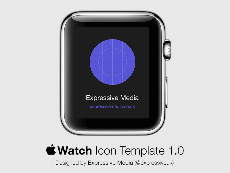 Apple Watch Icon Template by Expressive Media in 2015年3月的42套扁平化图标合集下载