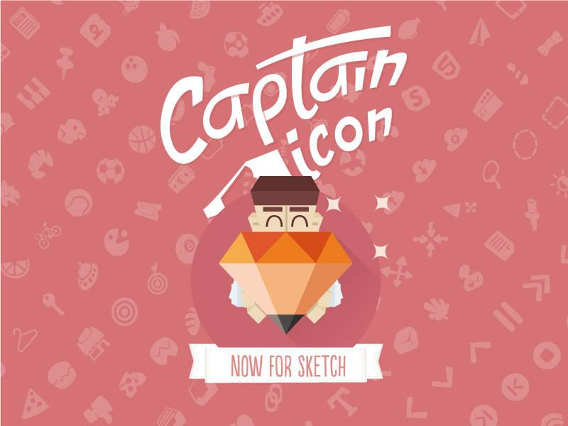 Captain Icon Sketchapp by Mario del Valle in 2015年3月的42套扁平化图标合集下载