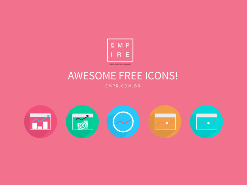 Free PSD Chart Icons! by Eric Müller in 4月必备的42套新鲜的扁平化UI图标下载