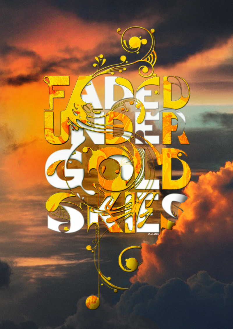 2015年5月出炉的创意字体设计合集Gold Skies by Peter Galadik in 20 Examples of Creative Typography