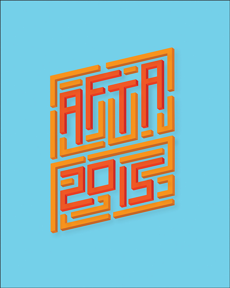 2015年5月出炉的创意字体设计合集AFTA 2015 by Diego Garcia in 20 Examples of Creative Typography