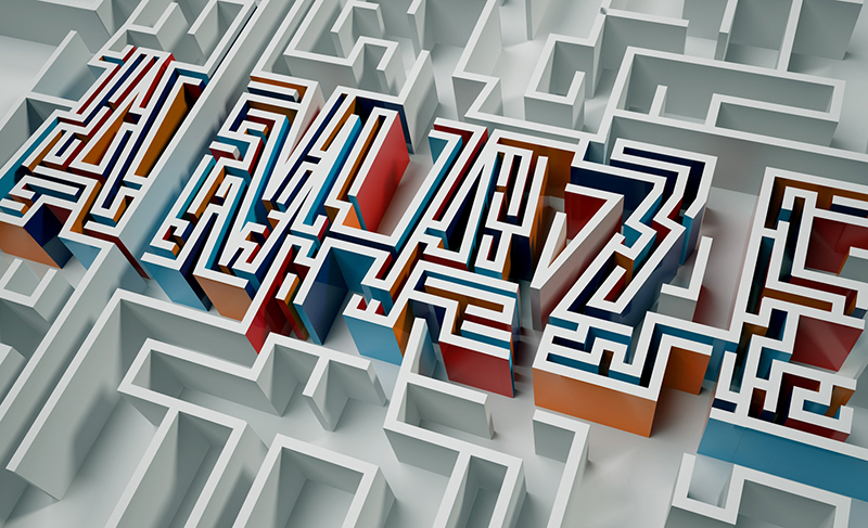 2015年5月出炉的创意字体设计合集A maze - typography by Elroy Klee in 20 Examples of Creative Typography