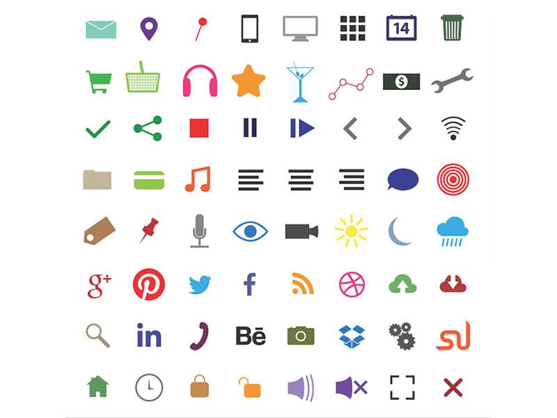 64 Free Fanaticons (AI + PNG + SVG) by www.PixsHub.com in 2015年5月出炉的扁平化图标套装下载