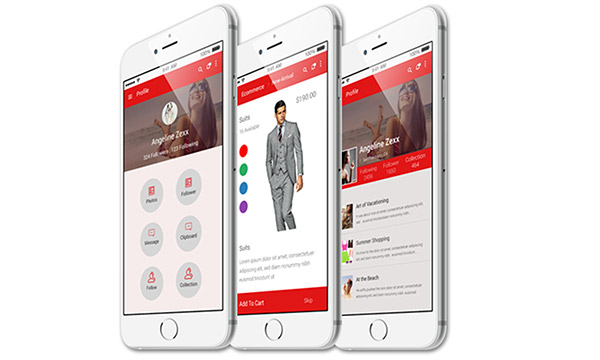 20 高质量的 网页&APP移动端界面UI Kits下载Fashion App UI PSD for Android and IOS