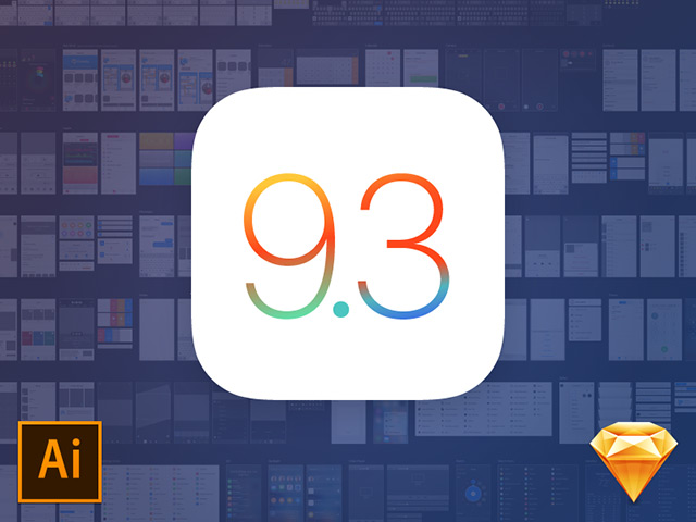 iOS 9.3 界面套装(UI kit)下载[ for Illustrator and Sketch]