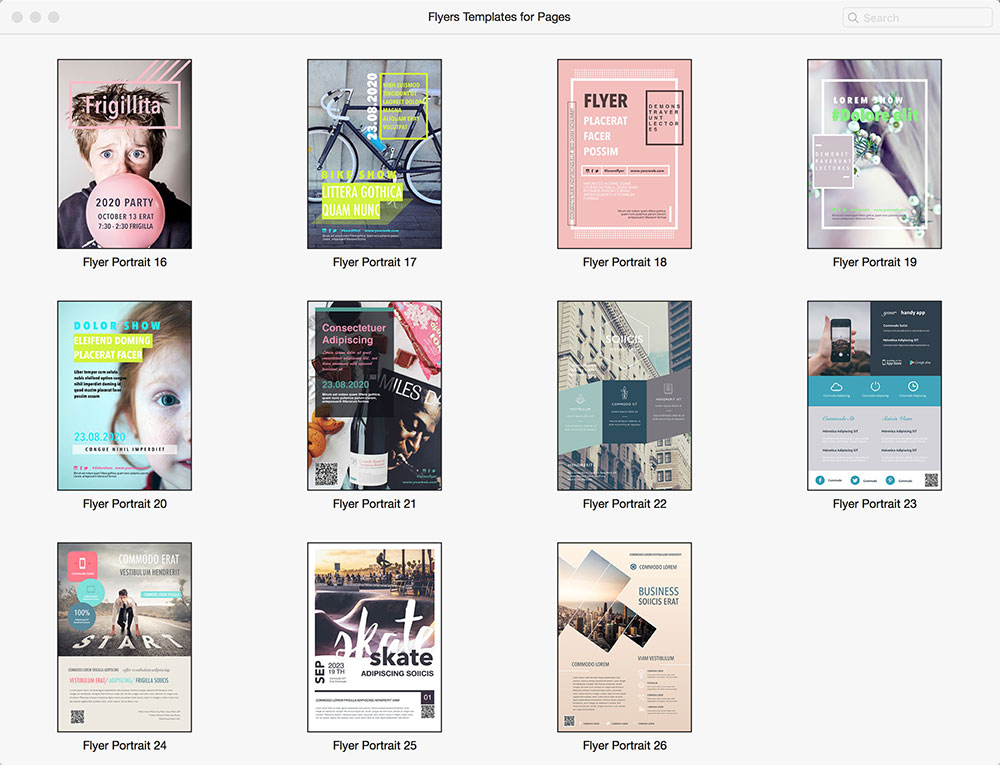 Flyers Templates for Pages 1.0 Mac Pages模板软件