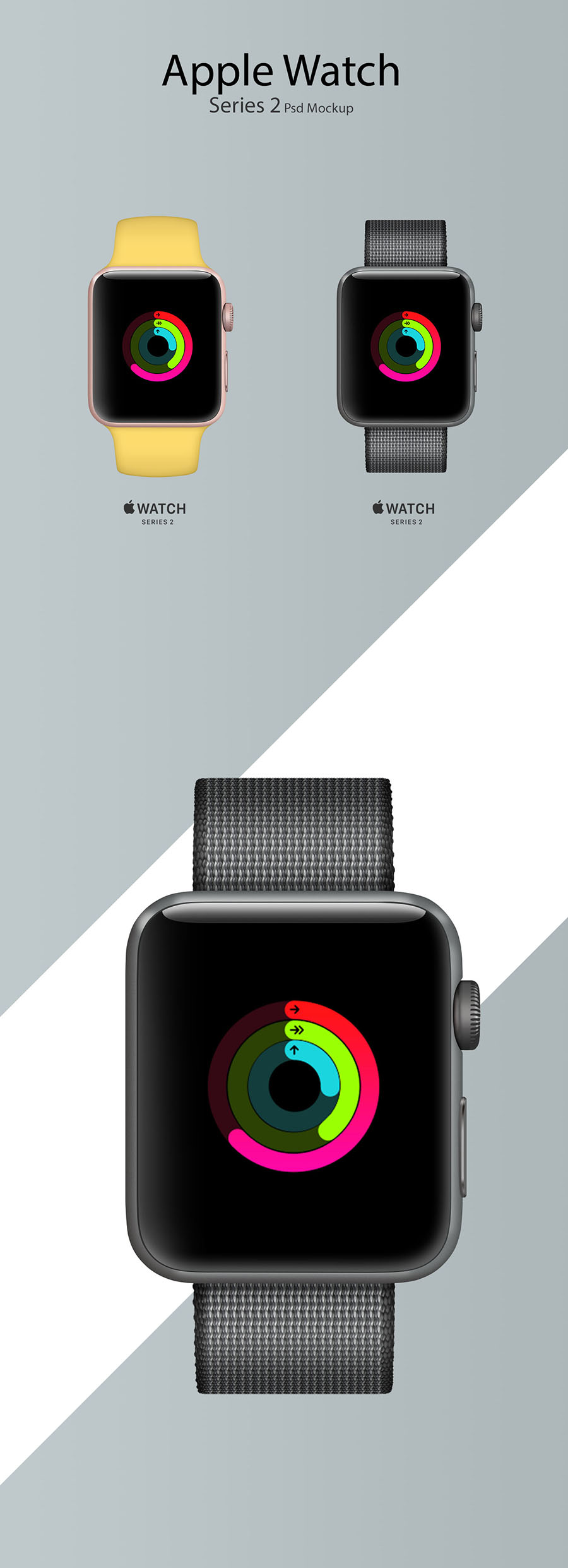 Apple Watch Series 2 PSD Mockup 下载