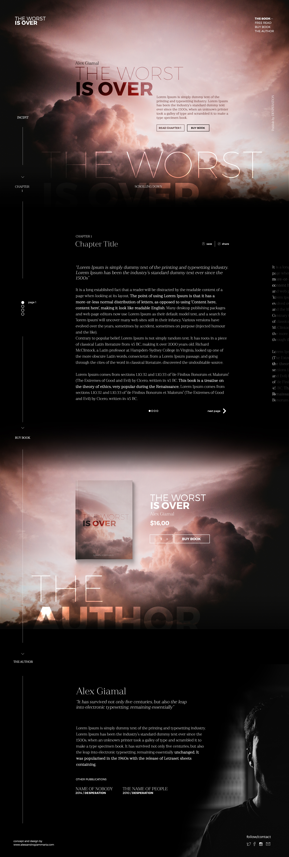 新鲜风格的单页网页模版PSD下载