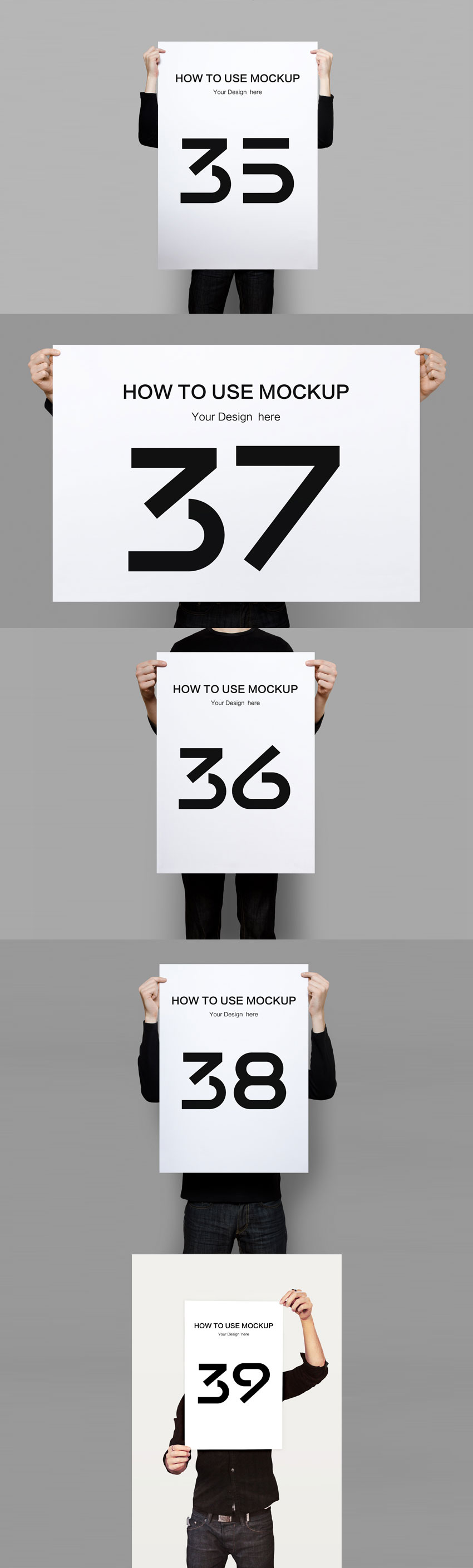 手持海报展示模型(Mockups)下载[PSD]-yunrui-co