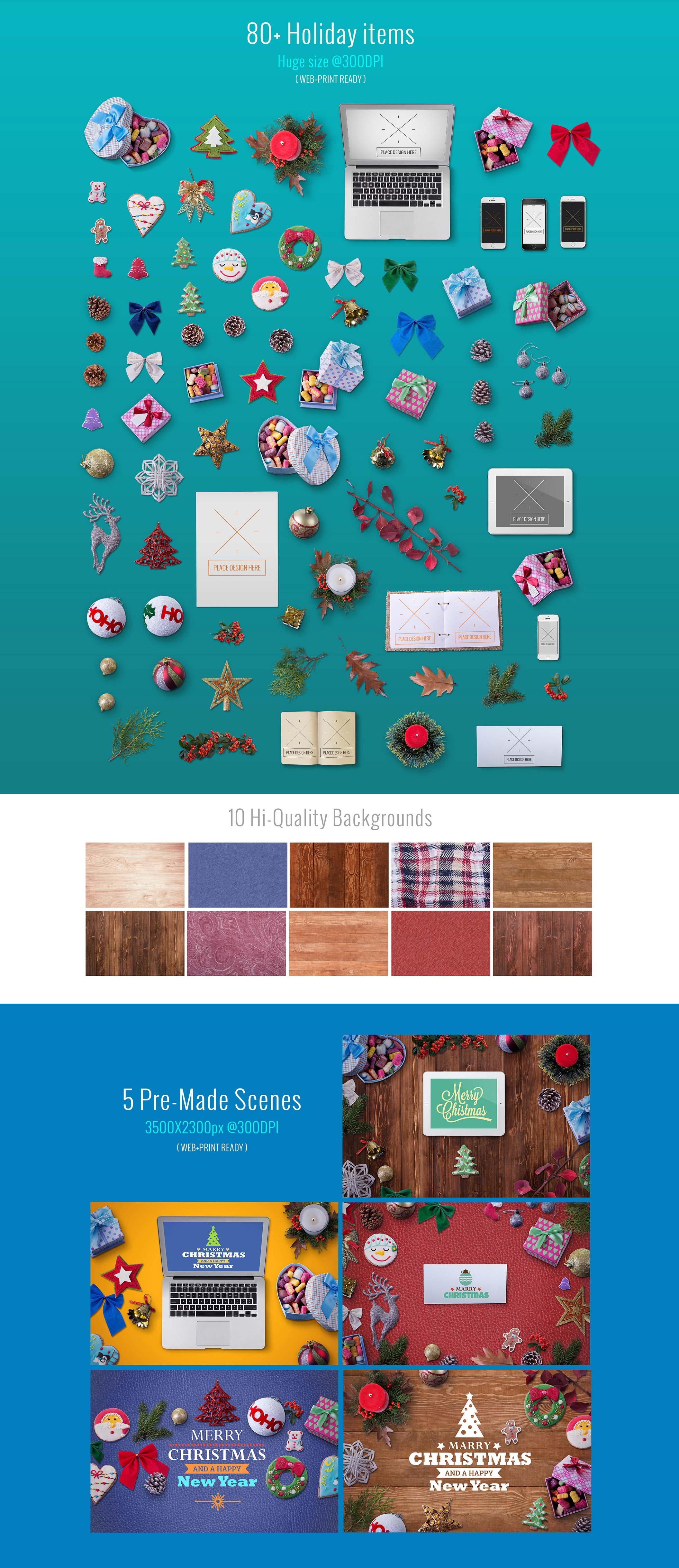 年度极品圣诞节素材打包下载[PSD]