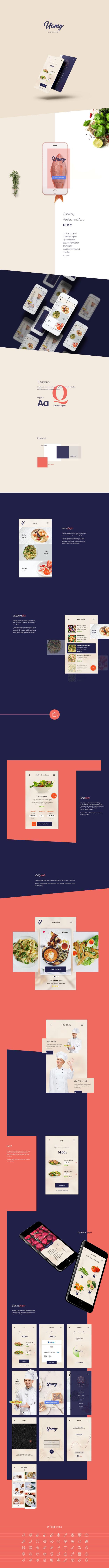 精致特别的餐饮类APP UI Kits[for iOS,PSD]