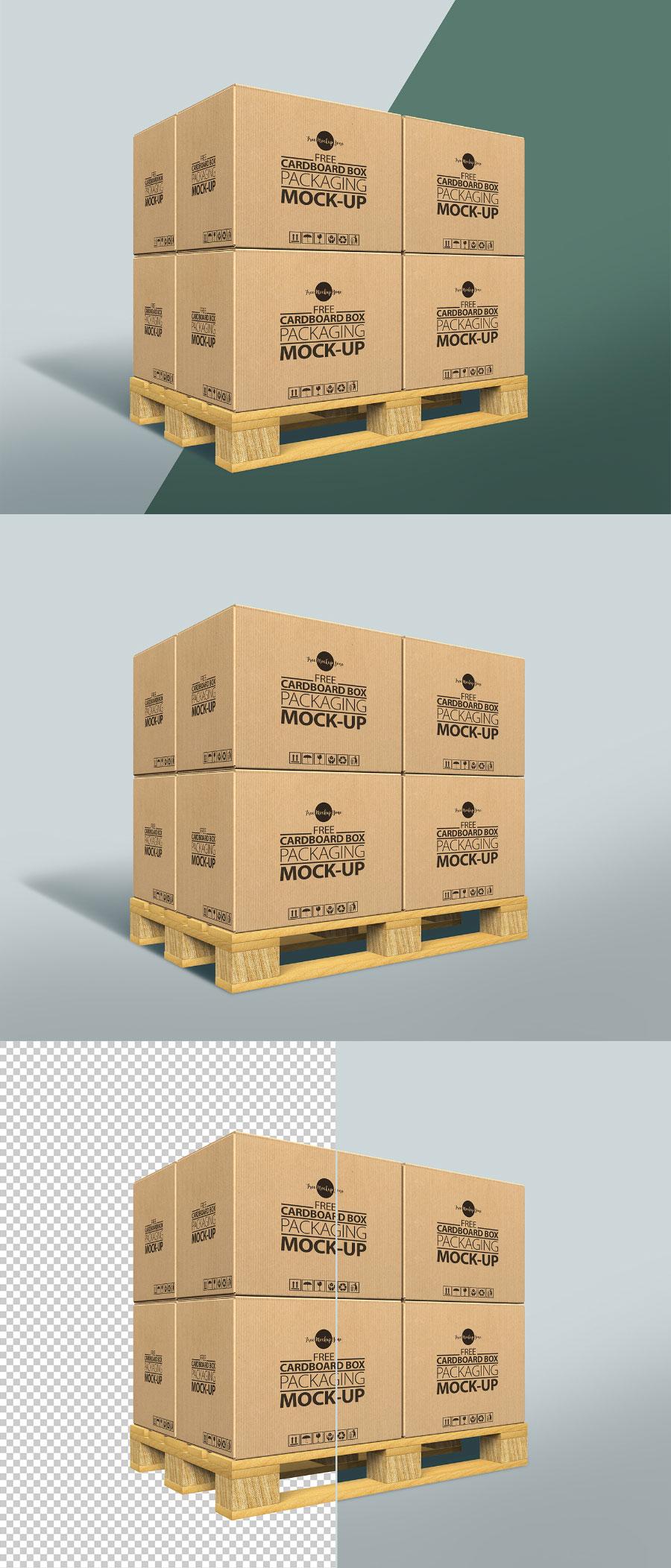 大型包装箱VI设计展示模型(Mockup)PSD下载