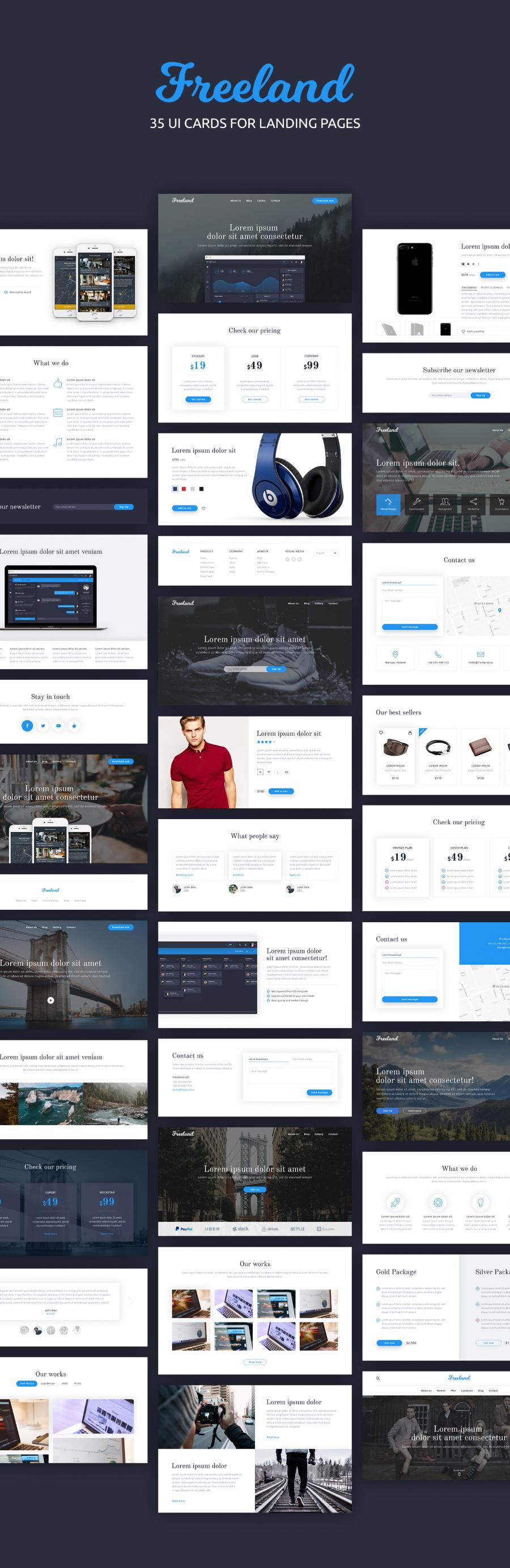 免费的Landing Page网页模版PSD下载[For数码类商品]