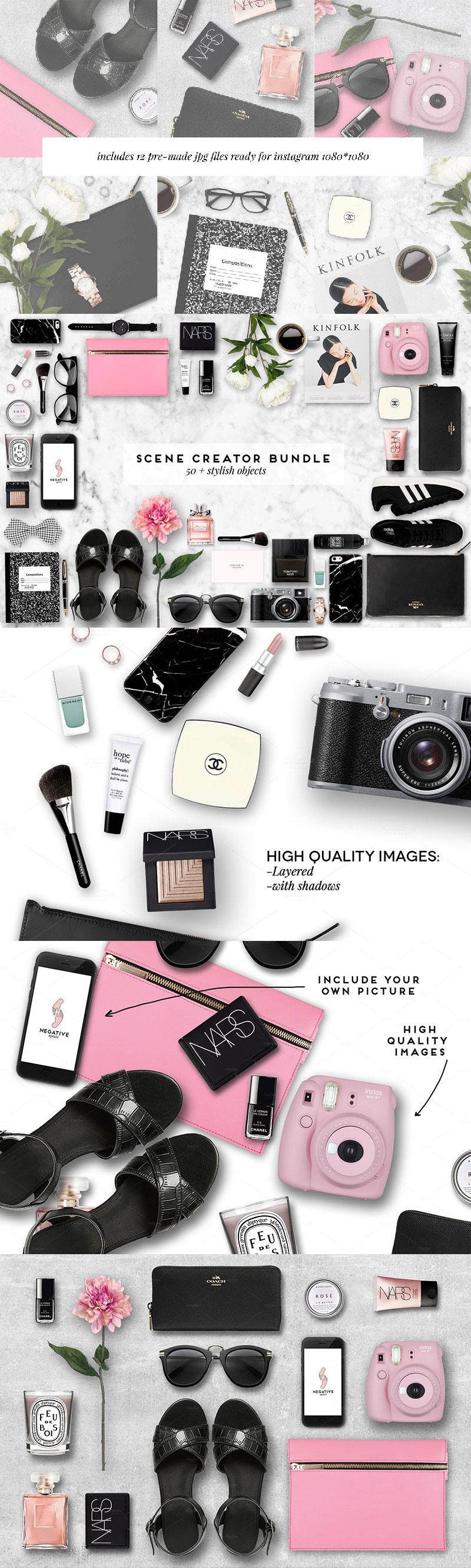 时尚女性必备配件展示模型(Mockup)PSD下载