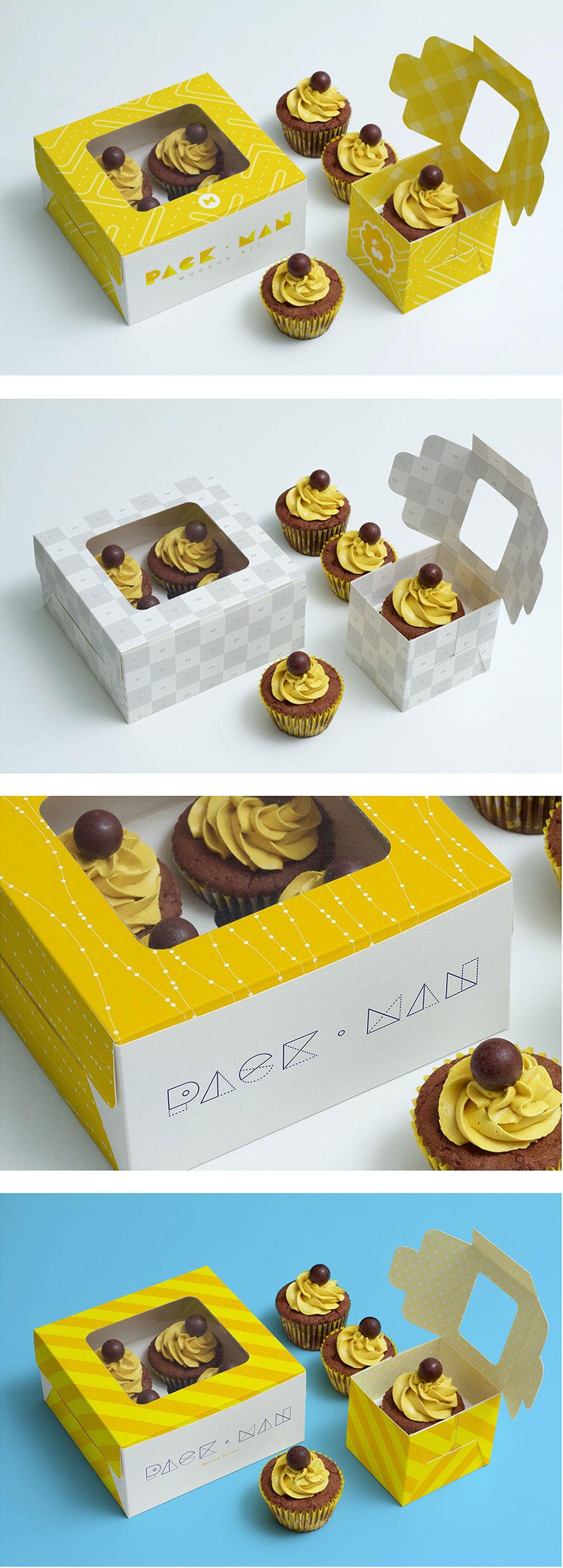 甜品包装VI设计展示模型(Mockup)下载[PSD]
