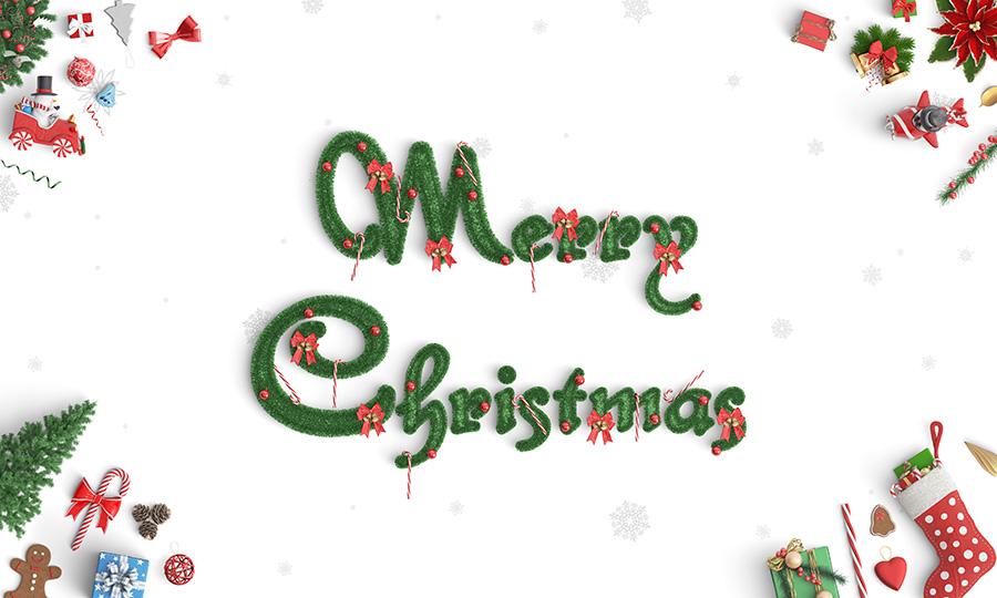 最高效的圣诞节广告设计场景素材下载[PSD]