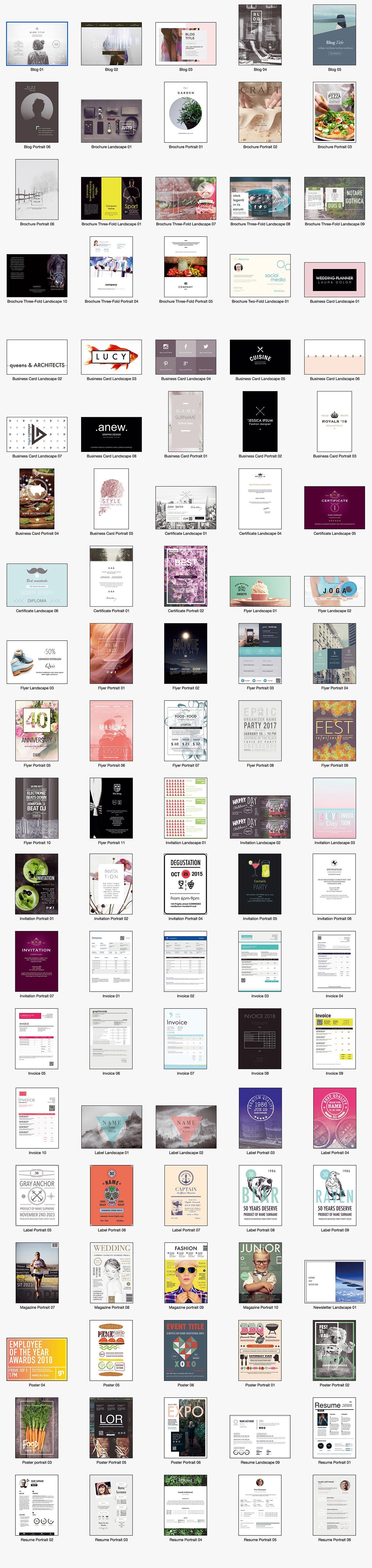 Templates for InDesign - Alungu Designs高品质的indesign模版下载[For Mac2.0.1]