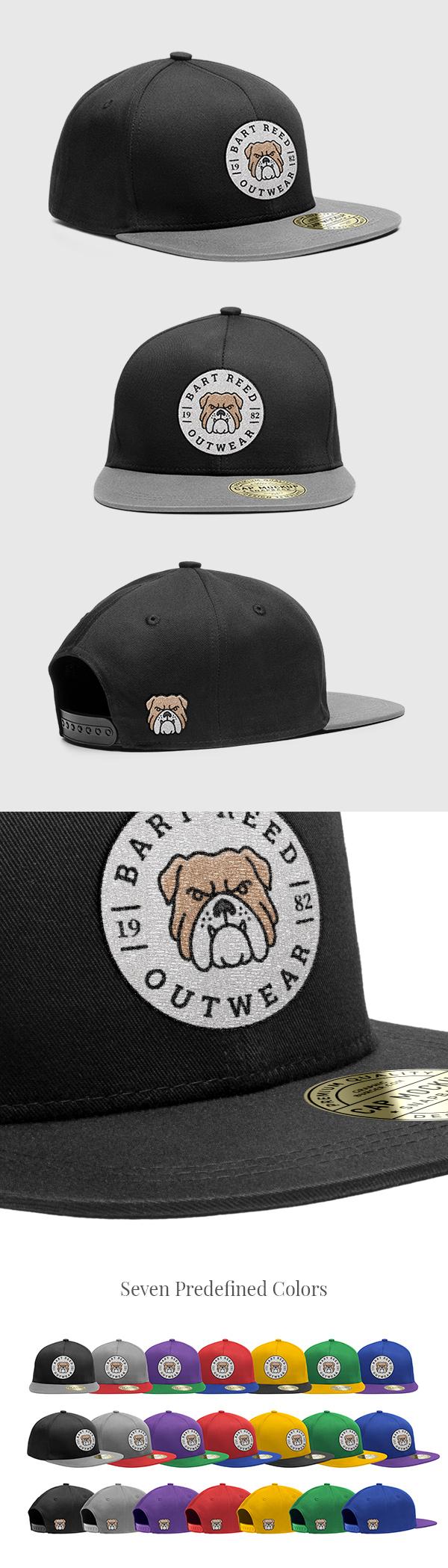 时尚的鸭舌帽展示模型(Mockup)下载[PSD]
