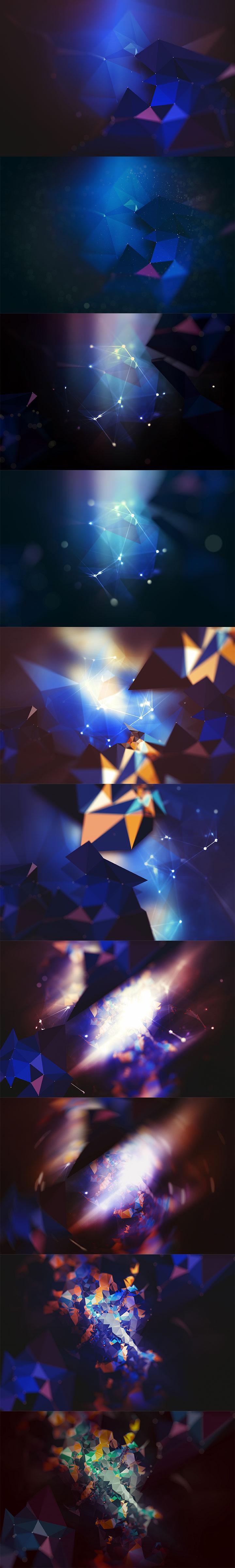 酷炫几何多边形背景素材下载[高清]