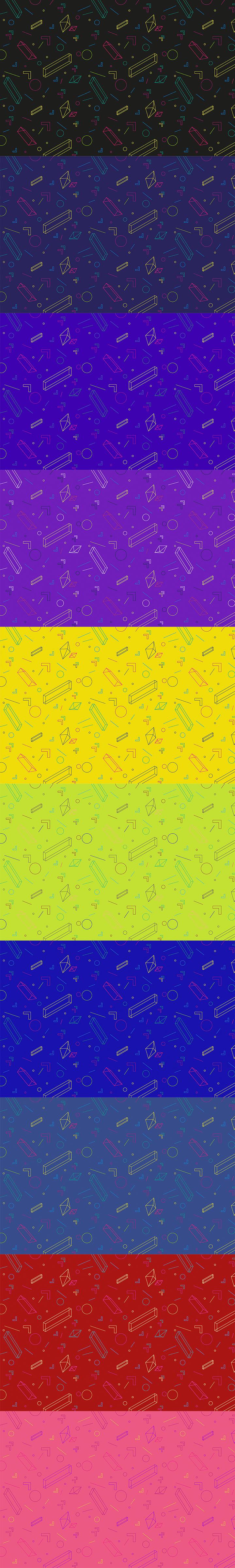 高品质免费的抽象几何图形背景包下载[4K高清图]