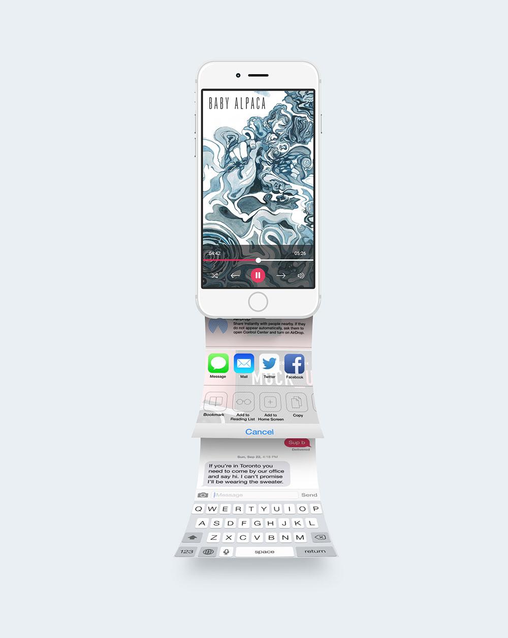 新鲜特别的手机APP UI设计展示模型(Mockup)免费下载