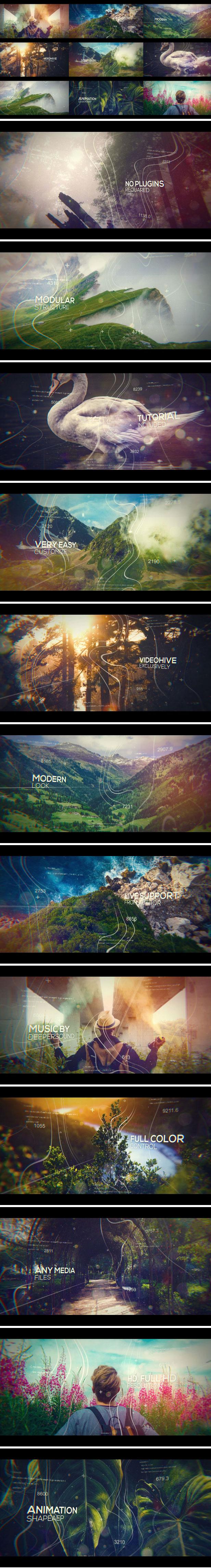 超好用的景区风景视频展示AE模版工程文件下载[AEP]