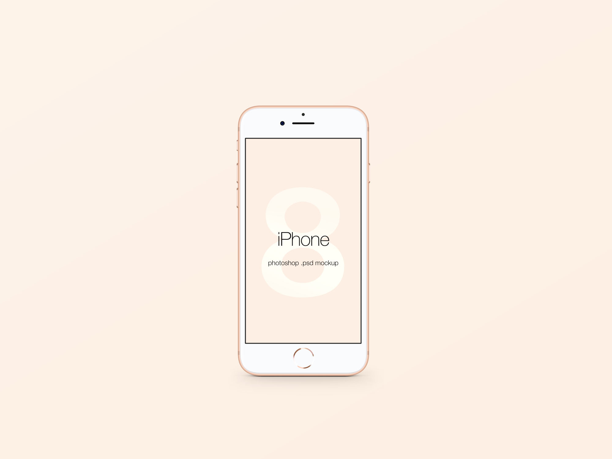 iPhone 8 PSD Mockup