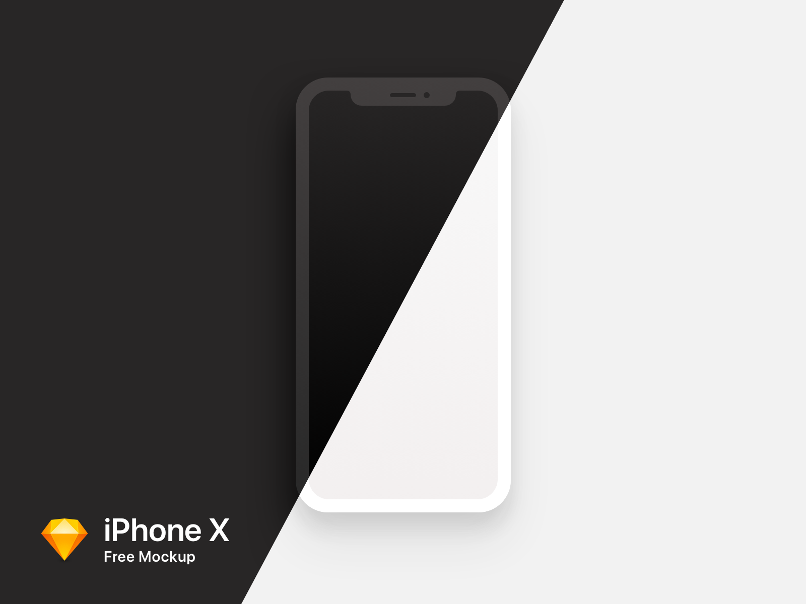 iPhoneX Black & White Mockups For Sketch