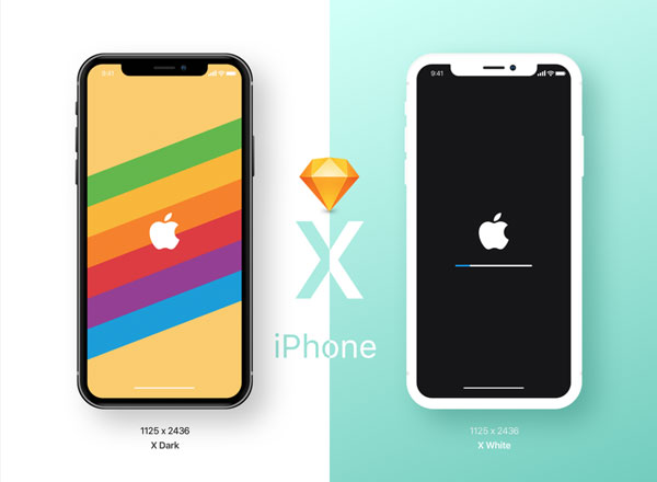 Beautiful iPhoneX Mockups For Sketch