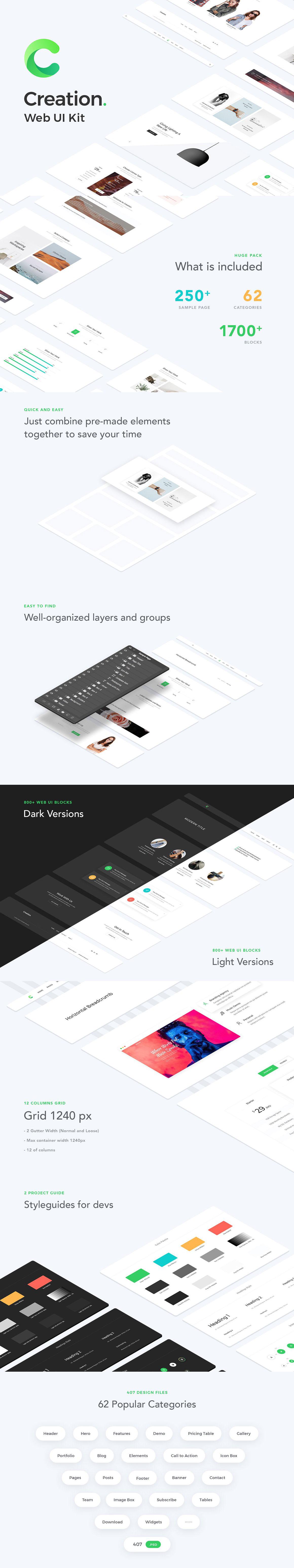 完美的UI设计创意必备的套装kits下载[PSD]