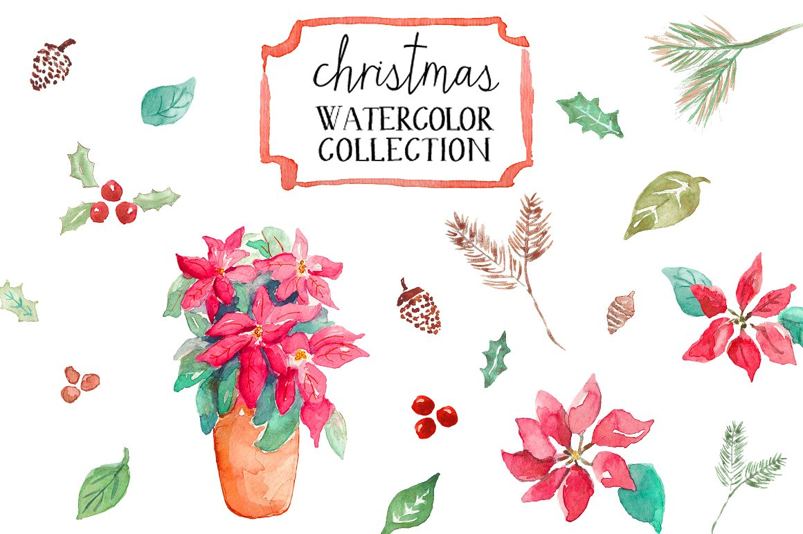 <span class='yzk_title_61154'>水彩圣诞节画 Watercolor Christmas</span>
