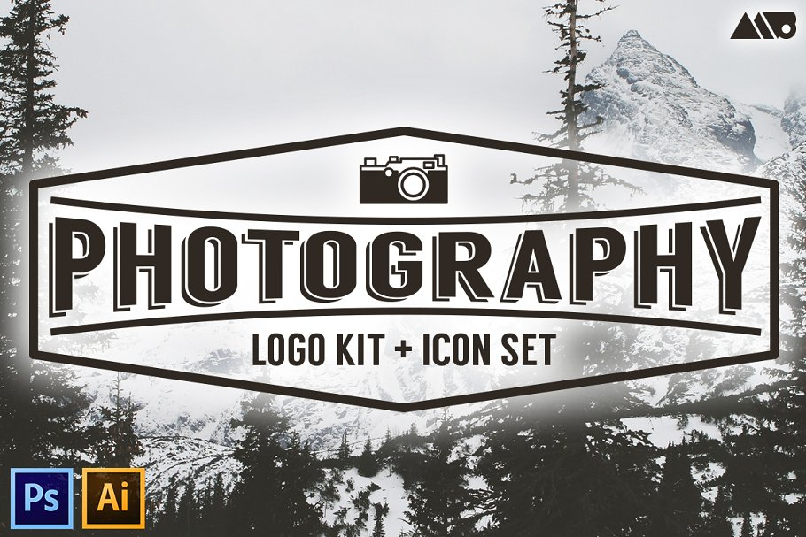 <span class='yzk_title_61091'>照片图片logo素材 Photography Logo Kit and Icon Set</span>