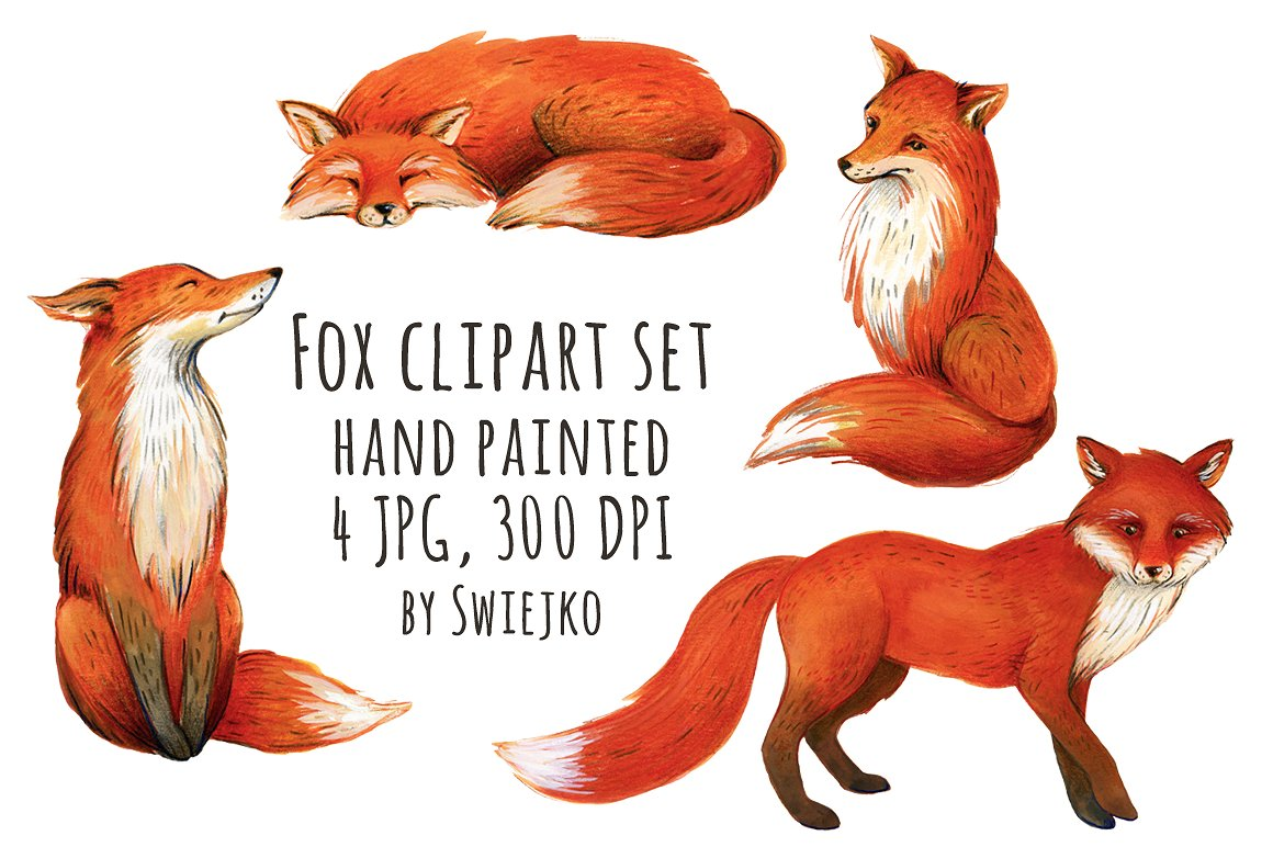<span class='yzk_title_61463'>狐狸插画 Fox illustration, clipart</span>