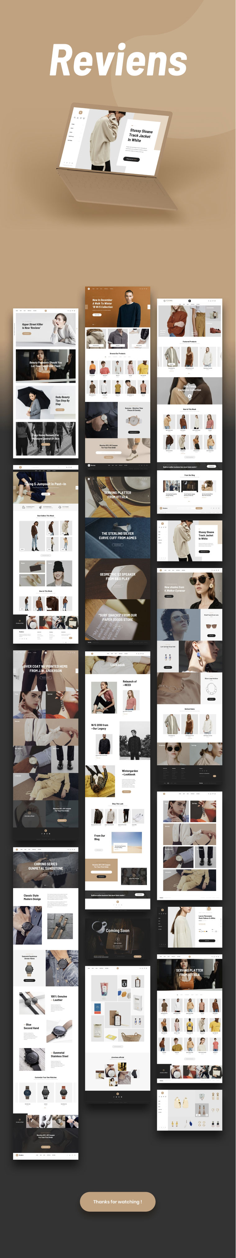 简约细腻的时尚电商网站UI KITS下载[PSD,Sketch]